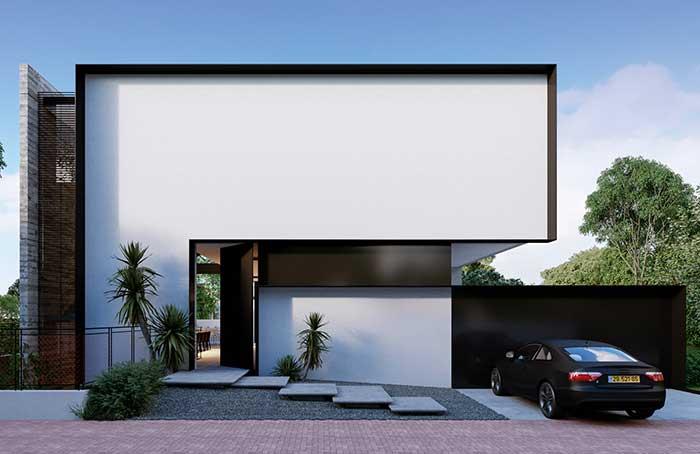 Mesmo que você não goste de arquitetura moderna fica difícil não se impressionar e se encantar com essa fachada de casa