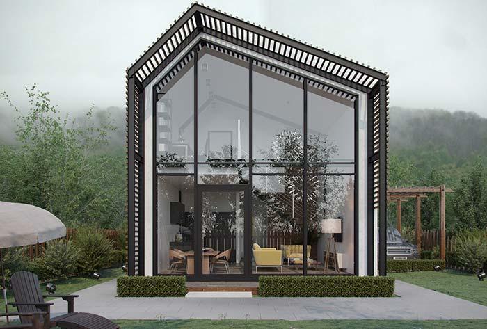 E uma fachada de casa toda de vidro? Serve para você?