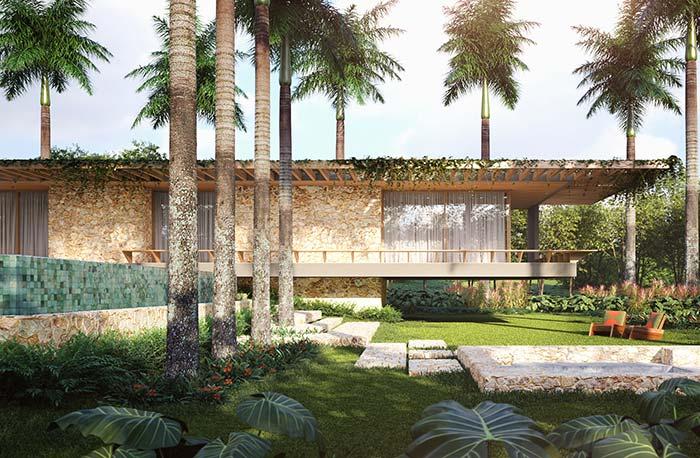 Nada como a beleza natural das plantas para valorizar uma fachada