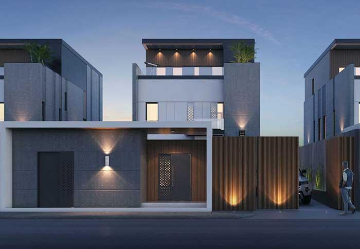 Para quem aprecia uma composição mais minimalista, essa fachada é uma inspiração