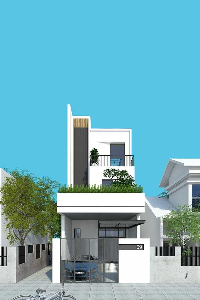 O branco é a cor preferida para fachadas modernas
