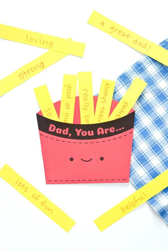 Uma lembrancinha dia dos pais com papel, caneta e cheia de carinho