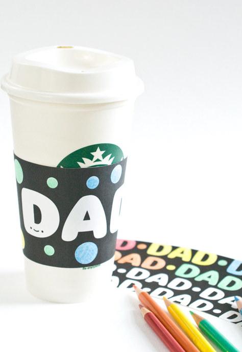 Porta-copos de papel: crie alguns modelos especiais para o seu pai uma ideia simples e super criativa como lembrança deste dia
