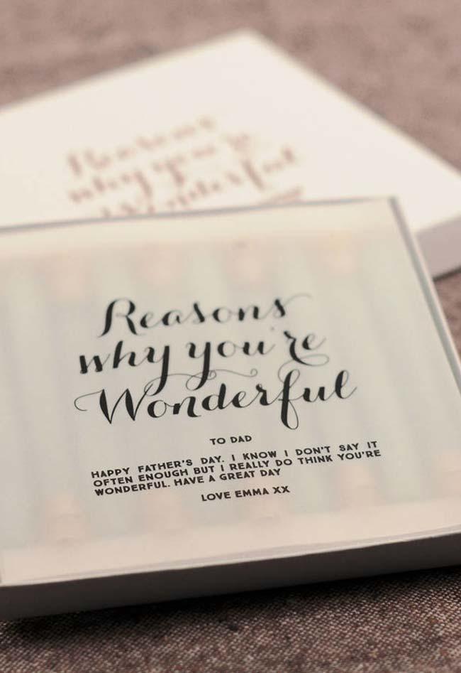 Razões porque você é maravilhoso!