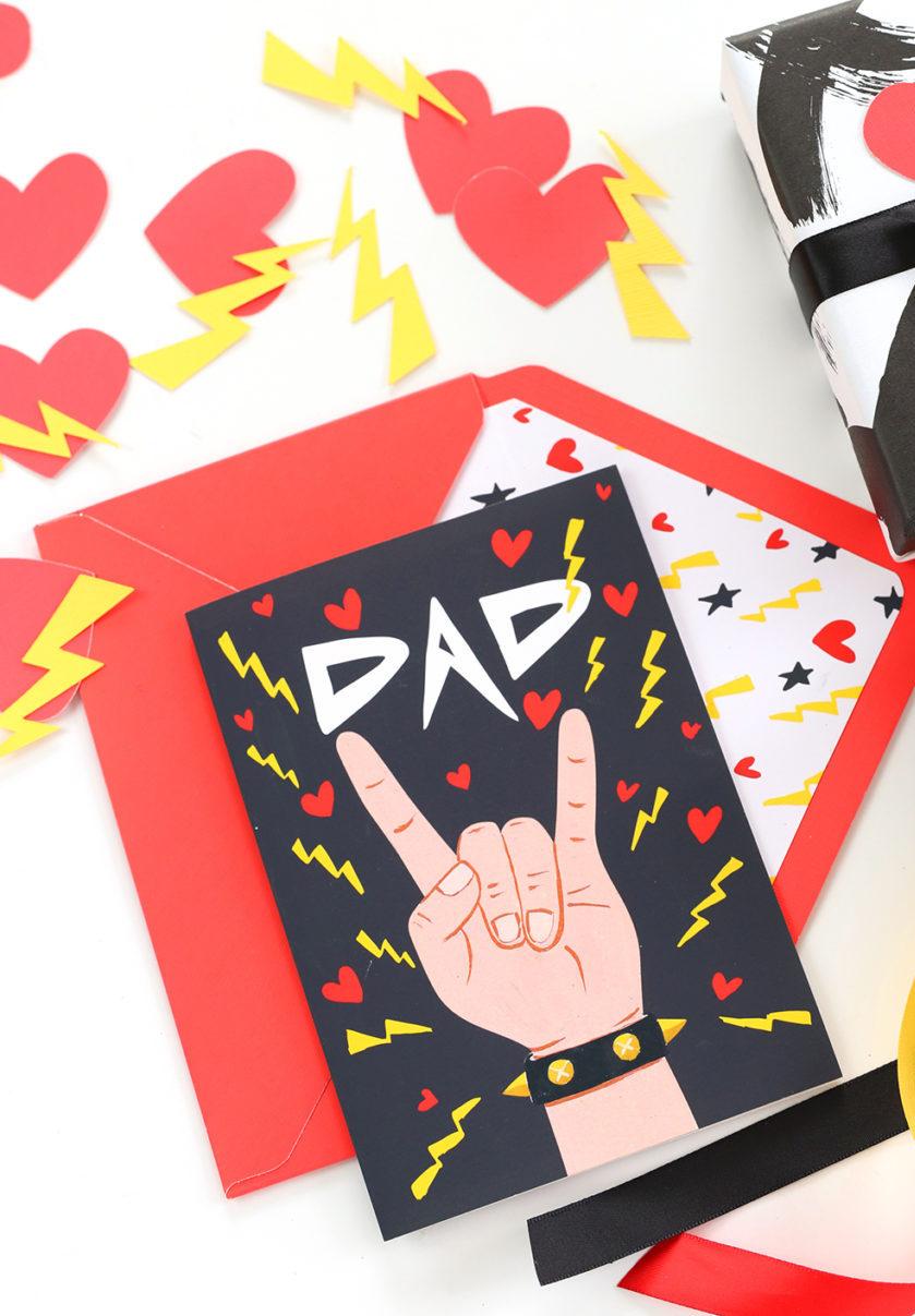 Um cartão feito especialmente para os papais superstars