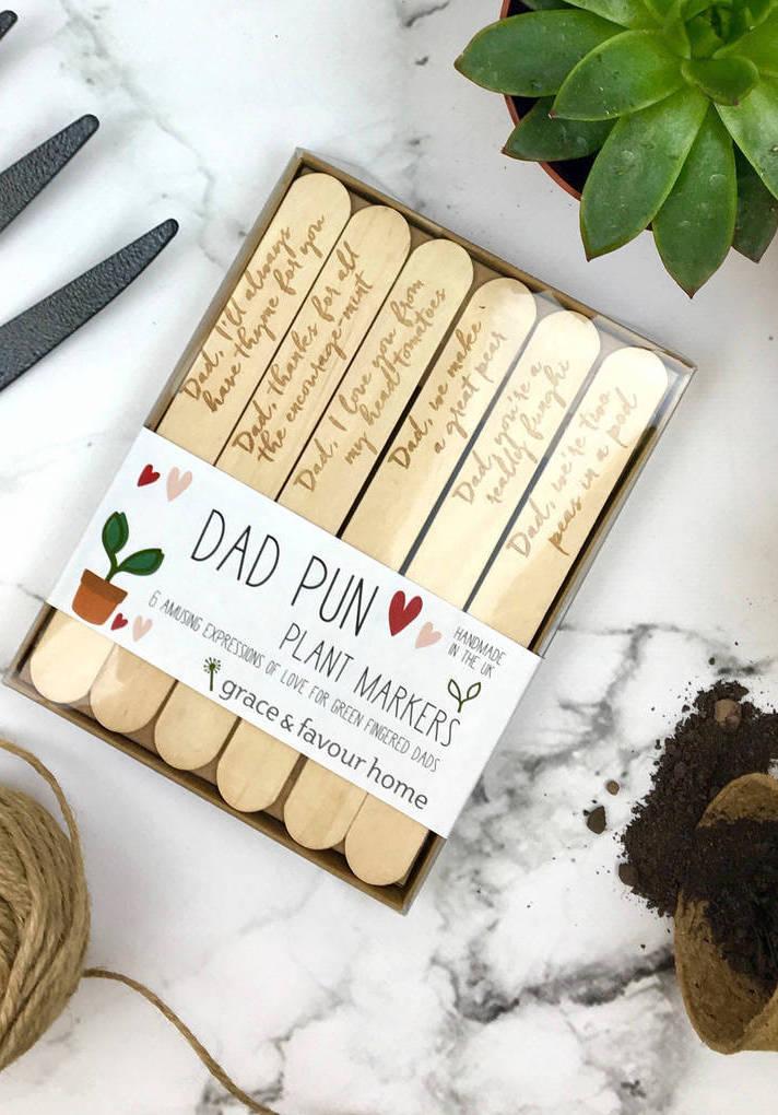 Palitos marcadores para identificar suas plantinhas e deixar mensagens cheias de afeto para o seu pai