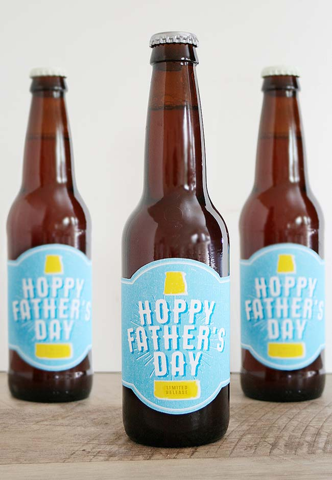 Rótulo para cerveja no tema dia dos pais