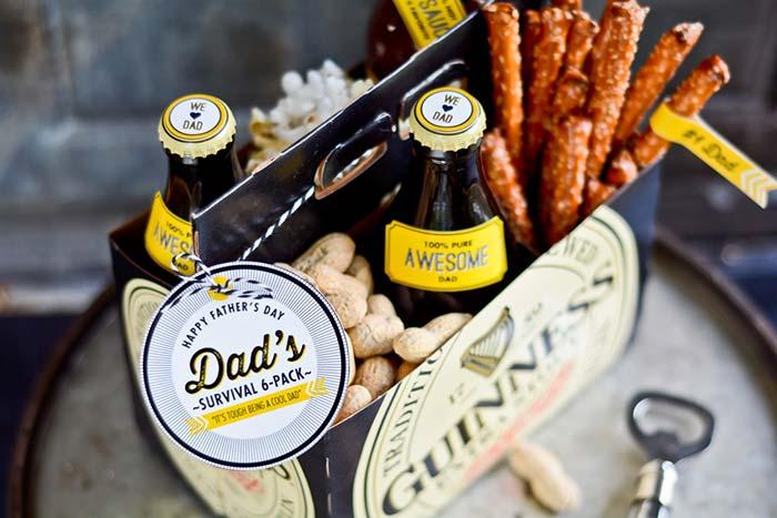 Especial de boteco para o seu pai: kit com snacks, salgadinhos e as cervejas favoritas do seu pai em uma ideia descontraída