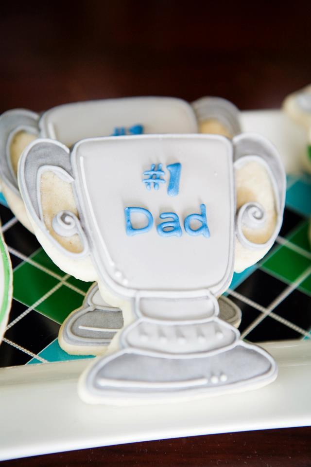 Biscoitinho confeitado para um papai campeão