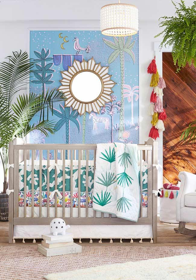 Papel de parede para quarto de bebê limitado