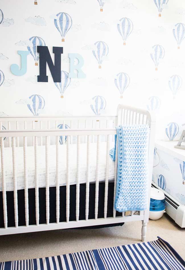 papel de parede para quarto de bebê céu tranquilo