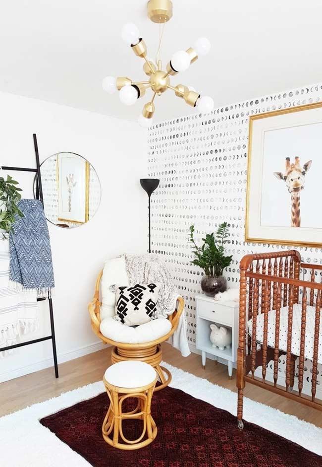 papel de parede para quarto de bebê preto e branco