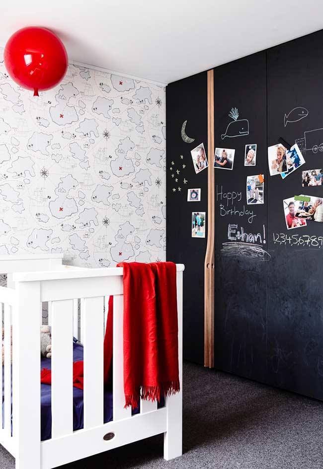papel de parede para quarto de bebê mapa do tesouro