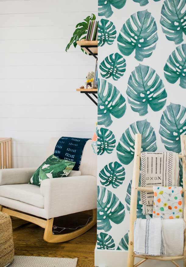 papel de parede para quarto de bebê urban jungle