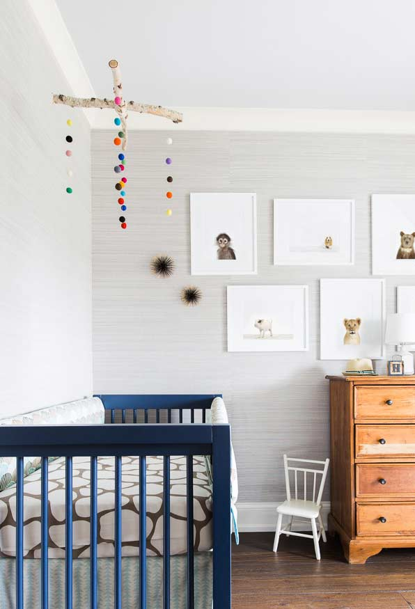 papel de parede para quarto de bebê claro