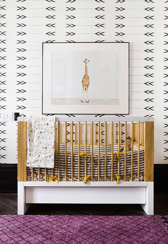 Flechinha papel de parede para quarto de bebê