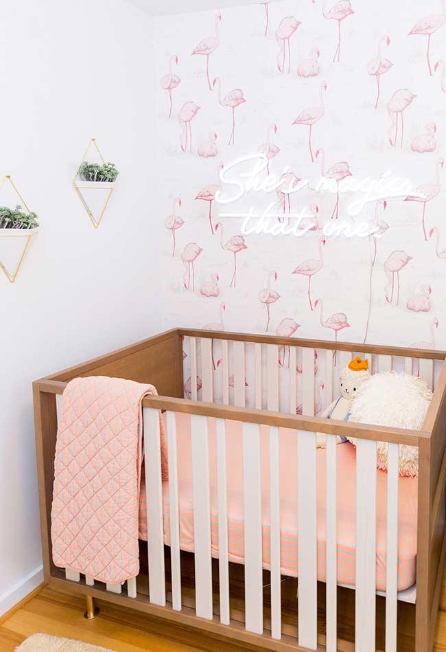 papel de parede para quarto de bebê feminino super descontraído