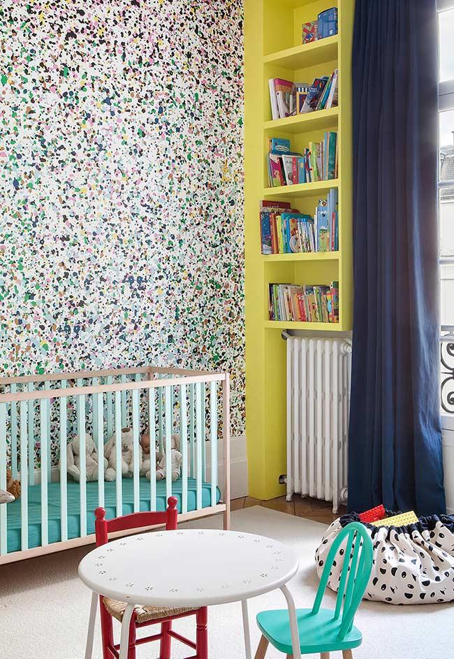 papel de parede que deixa o quarto do bebê mais divertido