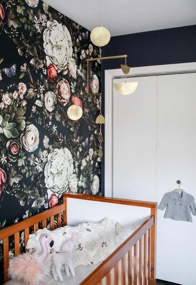 papel de parede para quarto de bebê feminino floral