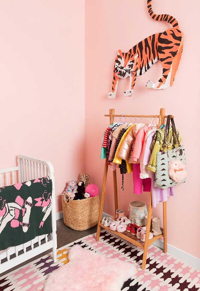 decoração cheia de atitude e personalidade para o quarto de menina