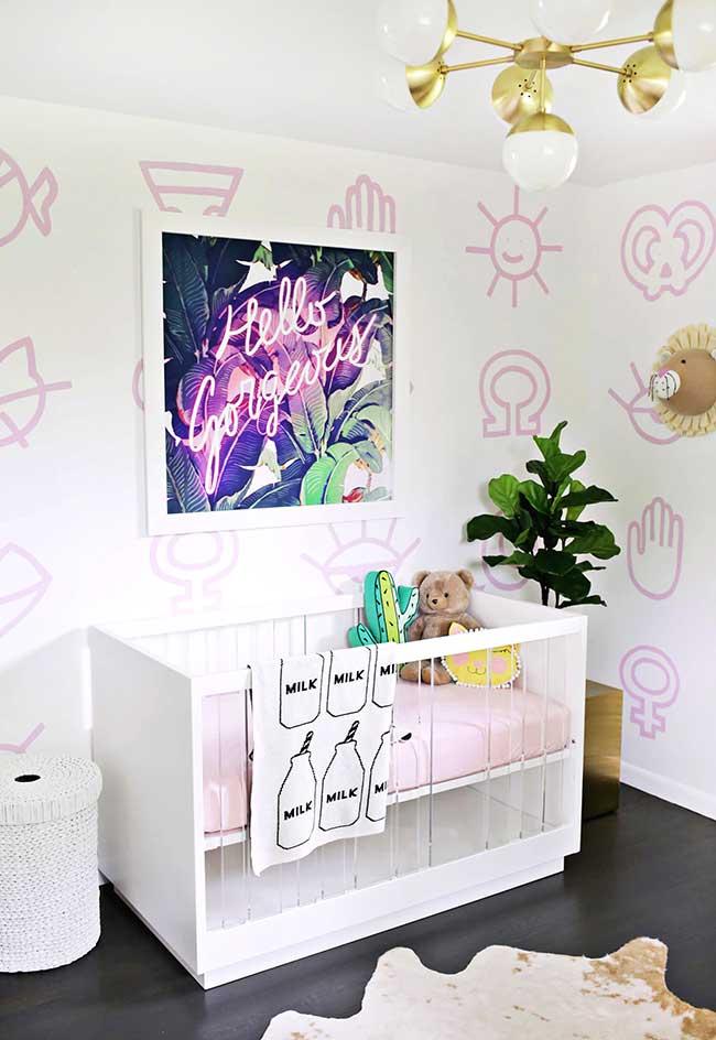 Decoração pop para quarto de bebê menina