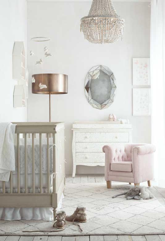 Decoração quarto de bebê feminino princesa