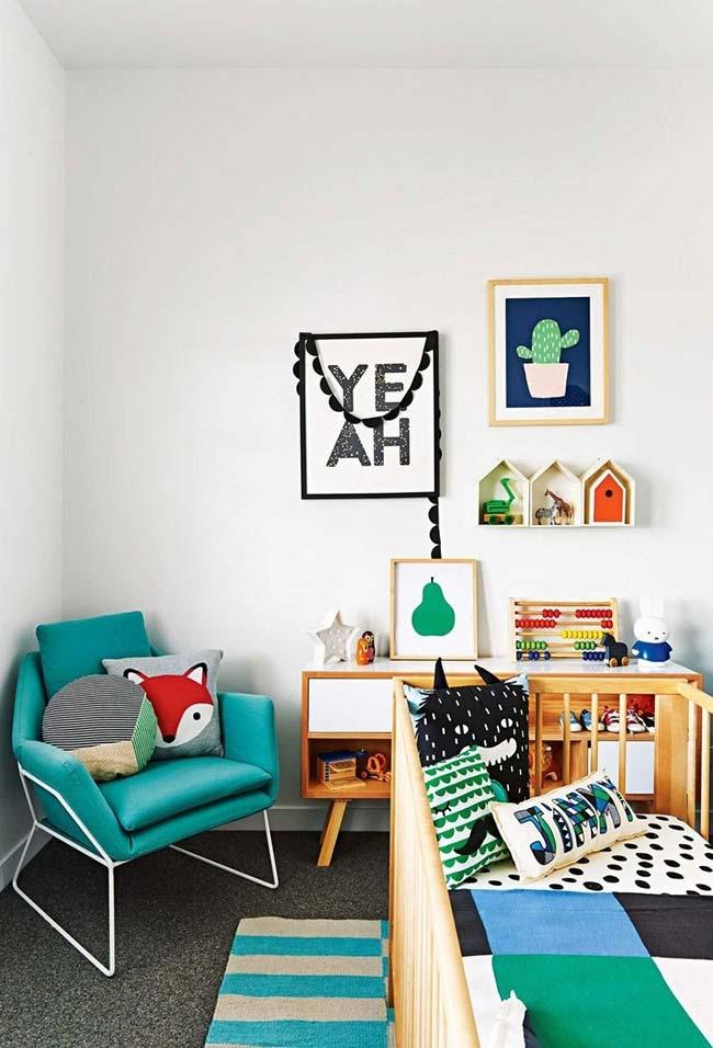 Aposte em uma decoração que mistura cores claras, cores vibrantes e muita diversão.