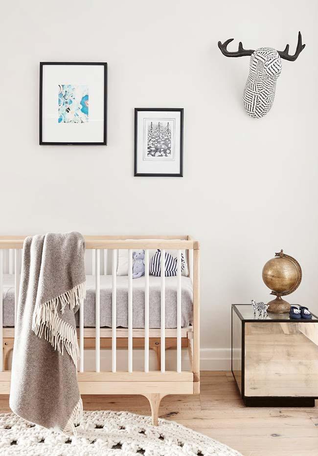 Quarto de bebê masculino decorado no estilo escandinavo