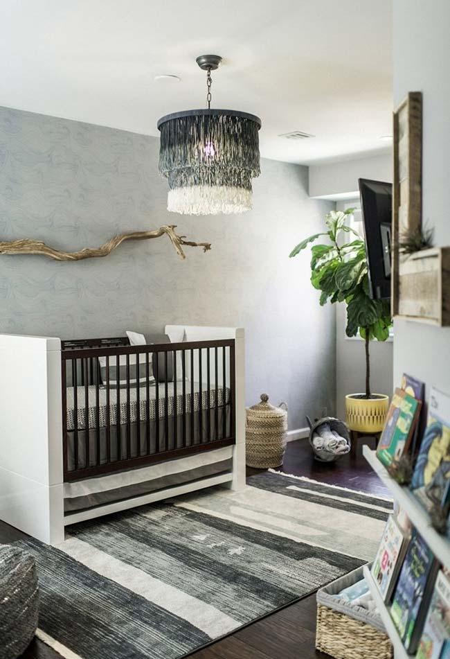 Decoração de quarto de bebê masculino monocromático