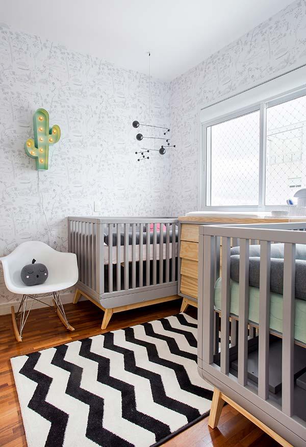 Decoração de quarto de bebê pequeno para gêmeos