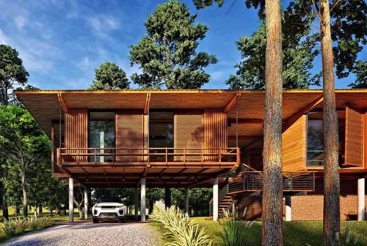 Com essa imagem dá para se convencer de que qualquer projeto arquitetônico é possível usando madeira