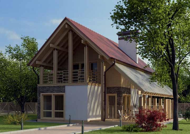Alvenaria, pedras, madeira: não tenha medo de mesclar materiais para a construção da sua casa