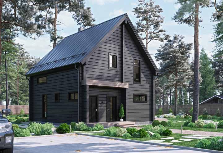 Nas casas de madeira a preocupação com acabamento não existe; no máximo a pintura ou impermeabilização das ripas