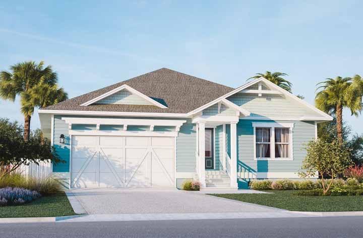 Nos Estados Unidos, as casas de madeira são as preferidas, especialmente em modelos como esse da imagem