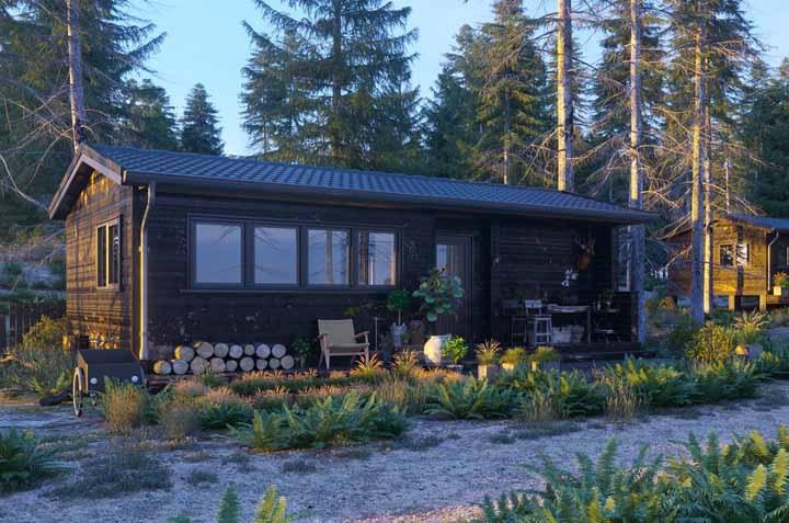 Uma casa de madeira para ver a vida passar devagarinho