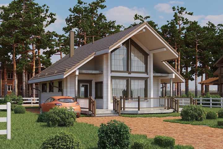 A casa de madeira já é uma graça, mas esse telhado fez toda a diferença no projeto
