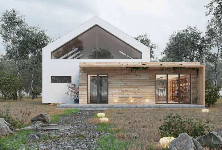 Casa de alvenaria com fachada de madeira: uma solução para quem já tem a casa pronta e deseja, ainda assim, investir no material