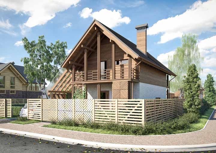 Se a casa é de madeira, porque não fazer a cerca de madeira também?