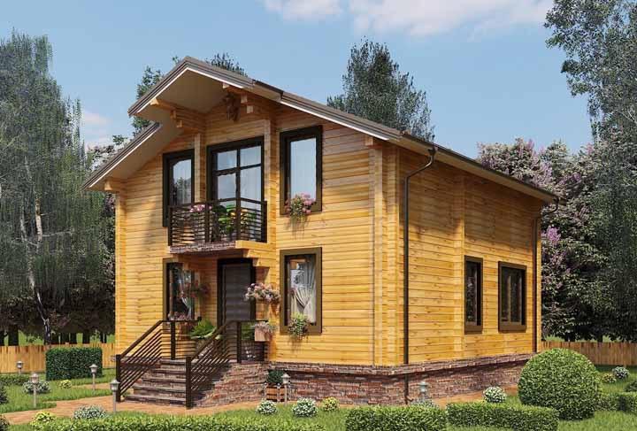 Dê um toque de romantismo para a casa de madeira usando flores na fachada