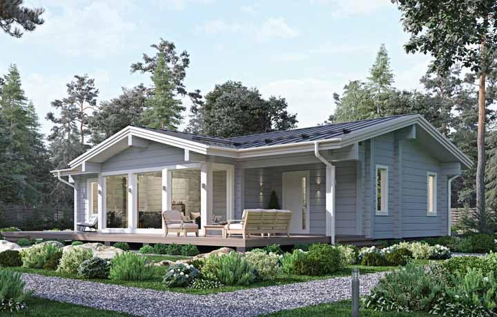 Casa pequena e clean de madeira para você se inspirar a fazer uma também