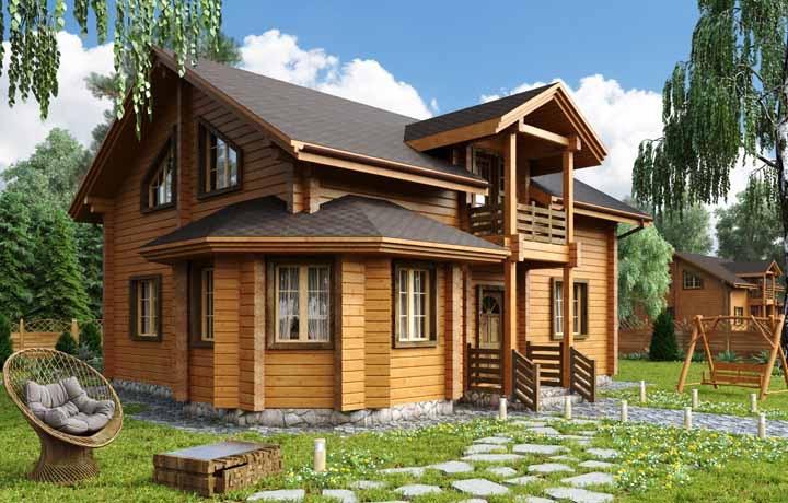 Imagina morar em um condomínio de casas de madeira? Um sonho!