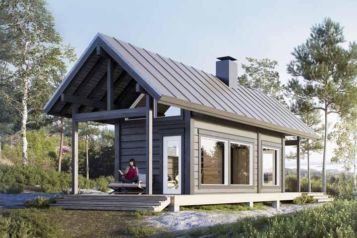 Simplifique a vida com uma casinha pequena e modesta de madeira