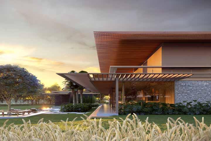 O telhado é outro elemento que pode virar o centro das atenções; repare no dessa casa, impressionante não?