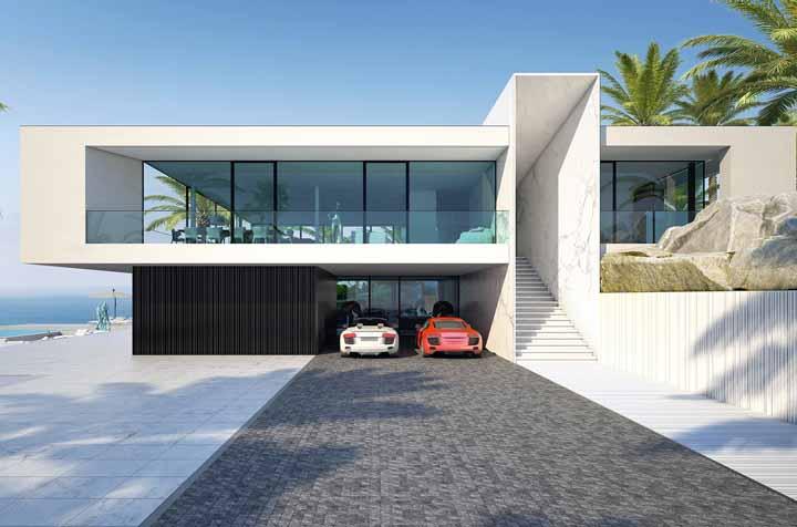 Casa bonita na praia: a proposta aqui foi fugir dos estilos tradicionais e embarcar em um conceito mais moderno e arrojado de construção