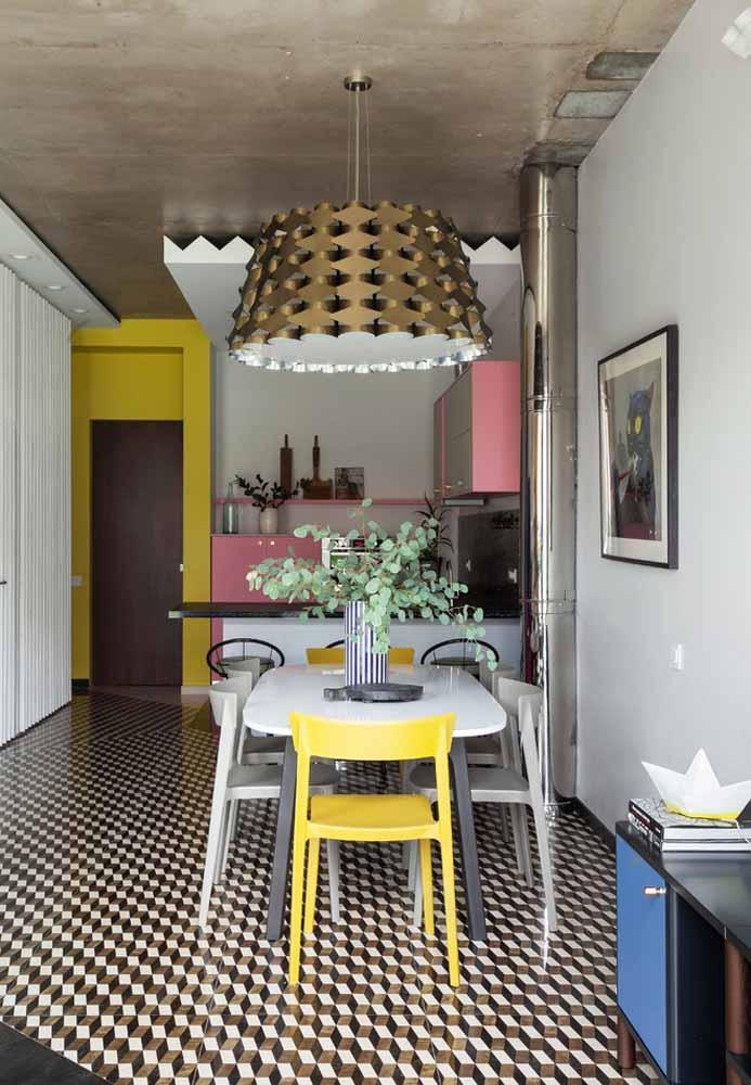 Aposte na cor rosa e nas suas combinações também nos projetos de cozinhas simples