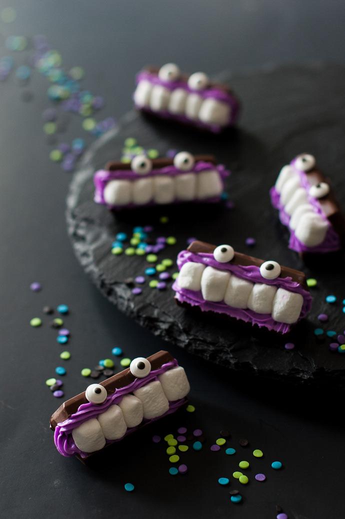 Decoração halloween assustador: docinhos-monstros cheios de travessuras