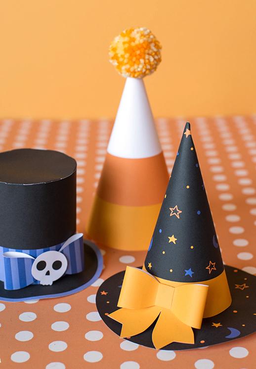 Decoração halloween passo a passo: chapéus dos ilustres – e assustadores – convidados como enfeites da sua mesa!