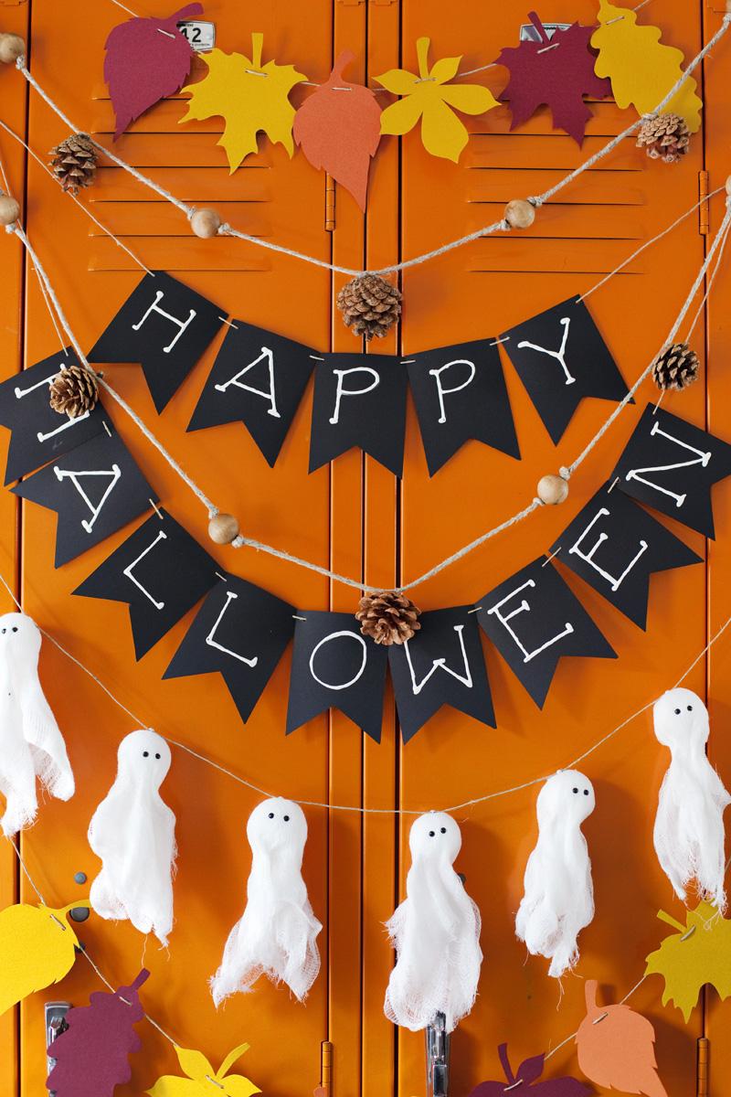 Decoração halloween faça você mesmo: garlands festivos e assustadores com poucos elementos