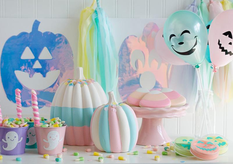 E para quem quer um halloween sem sustos e só com diversão, uma decoração completamente alegre e fofa para comemorar com os amigos!
