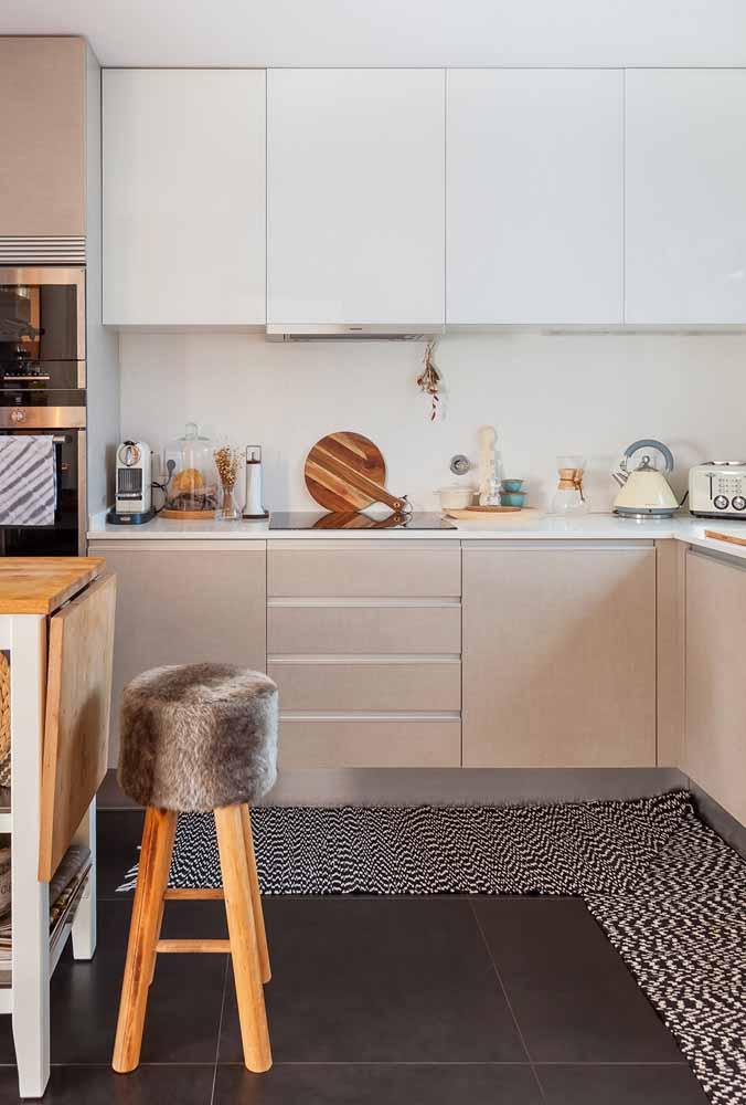 Decoração de cozinha: Cores mais suaves e tapetes para a cozinha ser mais quentes e muito aconchegante